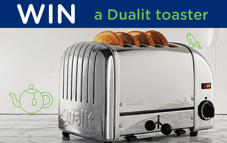 Win a Dualit toaster - Facebook Competition - Ts&Cs